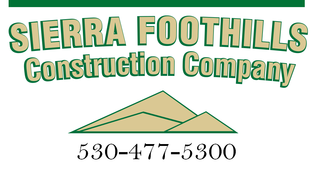 Sierra Foothills Construction Company Logo